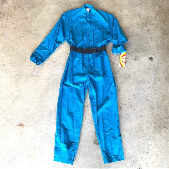 0b4db21e4a9b Deadstock Vintage Boiler Suit Coverall Jumpsuit